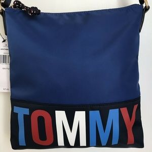 NWT Tommy Hilfiger crossbody bag Xbody Blue Logo